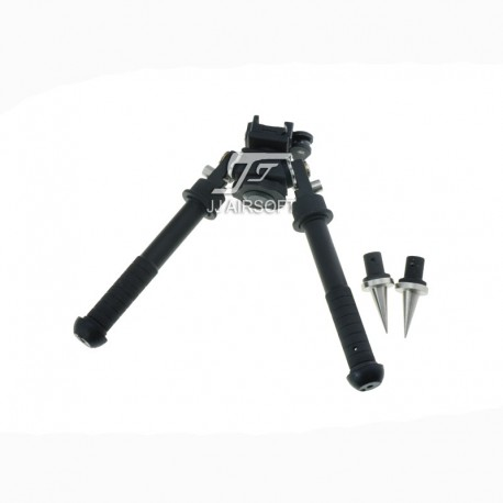 JA-1112   JJ Airsoft BT10 Atlas Bipod with AD170S Mount and Spikes    Airsoft Cart International   Free Shipping